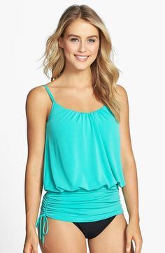 Magic Suit by Miraclesuit® 'Shelly' Shirred Waist Underwire Tankini Top available at #Nordstrom