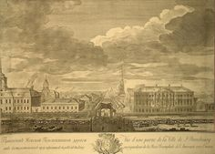 View of the Nevsky prospect from Moyka - Grigory Anikievich Kachalov | Cityscape Art Prints, State Hermitage Museum