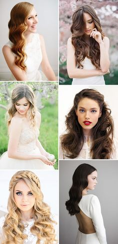 Glam and Glossy | Long bridal hair ideas | www.onefabday.com