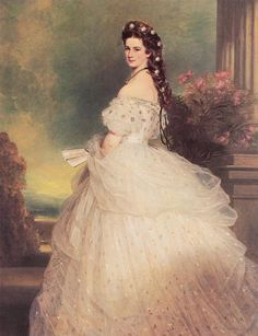 Empress Elizabeth of Austria by Winterhalter. One of my favorite paintings. And I covet her hair. Seriously.