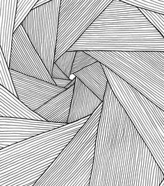 straight line lines drawing spiral drawings golden patterns draw doodle easy abstract kawaiidrawings zentangle hand pencil realistic doodles coloring flower