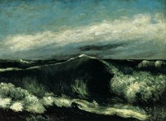 crashinglybeautiful:    Gustave Courbet, The Wave, 1869. Thank you,proustitute