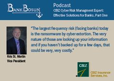 Kris St. Martin discusses cyber risk in banking on BankBosun Podcast