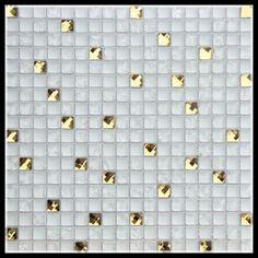 Mosaico de vidro barato 15x15 mosaico de vidro rachado telha, cor de ouro de vidro mosaicos, art glass mosaic ky-zr2013204