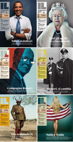 Intelligence in Lifestyle Magazine- great series of covers