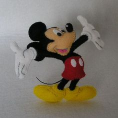 Felt mascot of Mickey Mouse