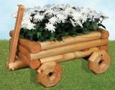 29-W1170PL - Landscape Timber Wagon Planter Woodworking Plan