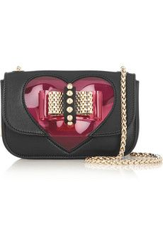 Christian Louboutin Sweety Charity mini PVC and leather shoulder bag