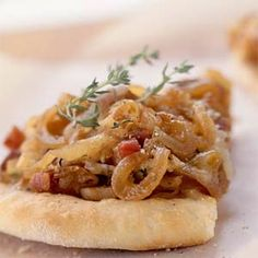 Ms. Bling's Fitness and Motivation: Fontina, Caramelized Onion and Pancetta Pizza