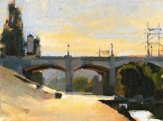 'Near the Footbridge' by Jennifer McChristian Oil ~ 7 x 9
