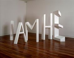 Michael Parekowhai, The Indefinite Article, 1990, Wood, acrylic, overall dimensions variable