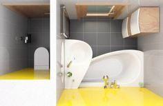 Туалет в цветах: серый, белый, лимонный, бежевый. Туалет в .