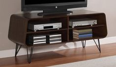 NEW Mid-Century Modern Retro TV Stand Entertainment Center