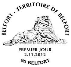 Oblitération Premier Jour Belfort (02/11) #TimbresPassion 2012 © Phil@poste / La Poste, DR.