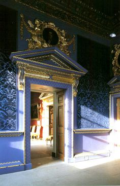 The Blue Velvet Room, Chiswick House, London ~ classical 18th century British architecture