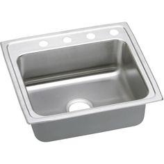 Elkay LRADQ221940 Gourmet 22 Single Basin Drop In Stainless Steel (Silver) Kitchen Sink (Less than 5 Inch)