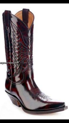 SENDRA-2073-Florentic-fuchsia-en-cuir-veritable-cowboy-western-motards-bottes-hautes