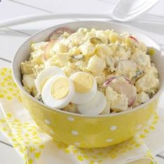 Deli-Style Potato Salad Recipe from Taste of Home brought to you by our friends at Physicians Mutual