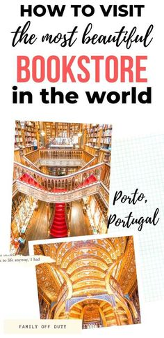 Planning a visit to the Livraria Lello Bookstore in Porto, Portugal? Find the best time to visit the bookstore and how to avoid crowds. Traveling With Baby, Travel With Kids, Family Travel, Travel Tours, Packing Tips For Travel, Travel Items, Travel Gifts, Portugal Travel, Eurotrip