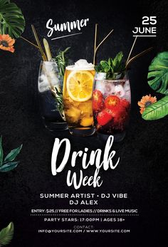 Check out the Special Summer Drinks Free Party Flyer Template only on freepsdfly. Check out the Sp Food Graphic Design, Food Poster Design, Food Menu Design, Graphic Design Posters, Flyer Design, Design Design, Booklet Design, Design Layouts, Poster Designs