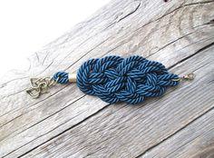 Blu Bracciale corda verde bracciale corda nodo di NasuKka su Etsy