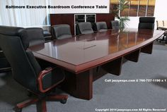 The Baltimore Boardroom Table long view. Does come in different sizes.