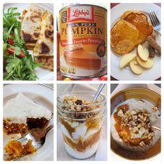 1  giant can of pumpkins, 5 recipes: http://www.midwestliving.com/blog/food/pumpkin-1-can-5-recipes/
