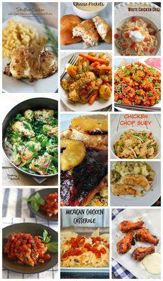 13 AMAZING CHICKEN DINNERS