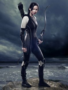 Jennifer Lawrence as Katniss Everdeen - motion poster as featured in the iPad version of Empire Magazine