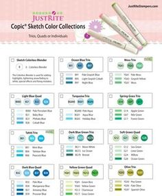 #justrite Copic Color Combos!!  These color combos will help you shade beautiful!