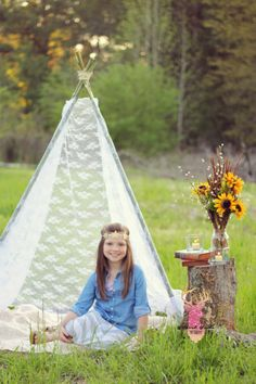 DIY Lace Teepee | Mini Sessions | Gypsy | Photography