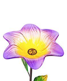 Purple Flower Bird Feeder Garden Stake | zulily