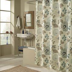 brown Bathroom Decor Kleine, moderne badkamer of o - bathroomdecor Funny Shower Curtains, Floral Shower Curtains, Bathroom Shower Curtains, Bath Shower, Downstairs Bathroom, Bathroom Towels, Bathroom Cabinets, Bathroom Vanities, Bath Towels