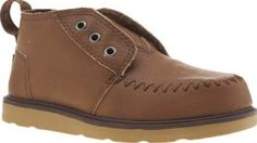 TOMS Brown Chukka Boot Boys Toddler Your stylish little one can feel as cool as the grown-ups as the TOMS Chukka Boot arrives for kids. This brown faux-leather silhouette features moccasin-inspired stitch details