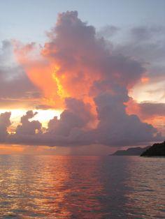 Grenada sunset.
