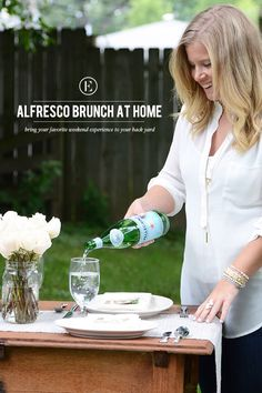 How to Throw a Rustic Alfresco Brunch #theeverygirl