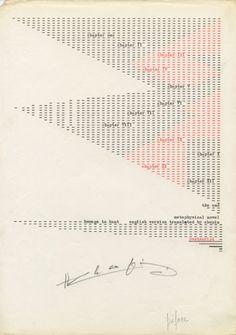 "Henri Chopin's ""La Crevette Amoureuse""   Art Agenda Graphic Score, History Of Philosophy, Alien Life Forms, Art Criticism, Fluxus, Henri, Writing Styles, Types Of Art, Art Techniques"