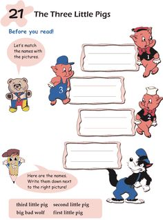 Grade 1 Reading Lesson 21 Fairy Tales – The Three Little Pigs Reading Lessons, Teaching Reading, Learning, Grade 1 Reading, English Story, English Reading, Three Little Pigs, Future Classroom, Reading Comprehension