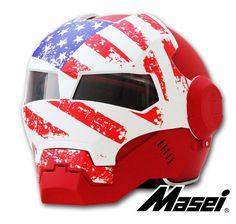 Masei 610 US Patriots Open Face Mask Harley Bike Motorcycle Chopper Helmet E111 #MaseiHelmet