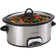 Crock-Pot 7-Quart Smart Programmable Slow Cooker, Stainless Steel