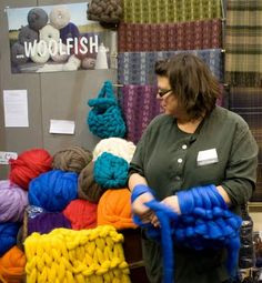 arm knitting - I want to try this. This takes the meaning I hand knit to a new meaning!