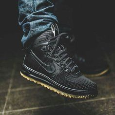 "Nike LUNAR FORCE 1 DUCK BOOT ""Black Anthracite"" Waterproof"