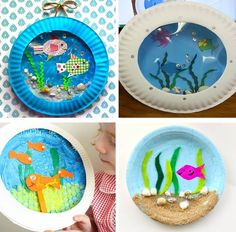 Timestamps DIY night light DIY colorful garland Cool epoxy resin projects Creative and easy crafts Plastic straw reusing ------. Paper Plate Crafts, Paper Crafts For Kids, Craft Activities For Kids, Preschool Crafts, Diy For Kids, Toddler Art, Toddler Crafts, Sea Crafts, Animal Crafts