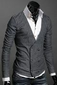Men's Double Breasted Cardigan