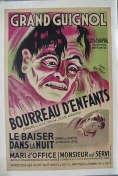 Bourreau d'enfants au théâtre du Grand Guignol (affiche)