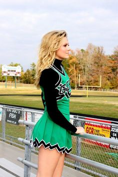 Senior Portrait / Photo / Picture Idea - Cheer / Cheerleader / Cheerleading - Stands