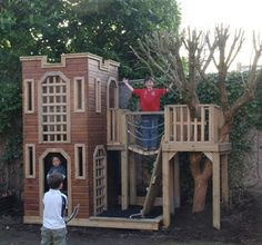 Castle playframe.  What's not to like about the style of this?