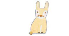 Pipkin Rabbit Shaped Felt Rug   made.com