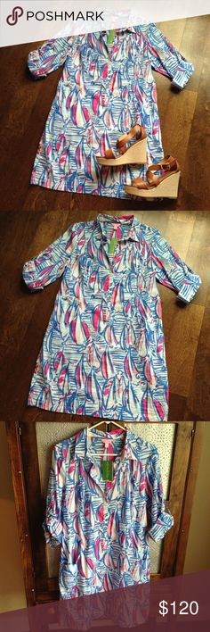 Lilly Pulitzer | Sanibel Tunic Dress NWT. Lilly Pulitzer | Sanibel Tunic Dress | Red Right Return Lilly Pulitzer Dresses