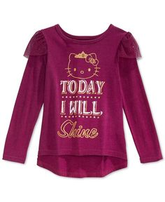 Hello Kitty Little Girls' Today I Will Shine T-Shirt